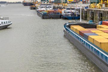 נגיף הקורונה: מכולות ריקות נערמות בנמל שנחאי