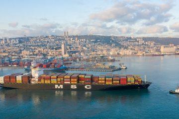 היסטוריה בנמל חיפה: אניית MSC עגנה עם מטענים מהאמירויות
