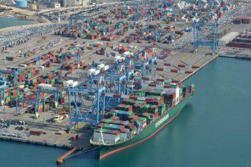 בשל השיבושים: ירידה של 3.2% בפעילות המכולות בנמל אשדוד ב-2018